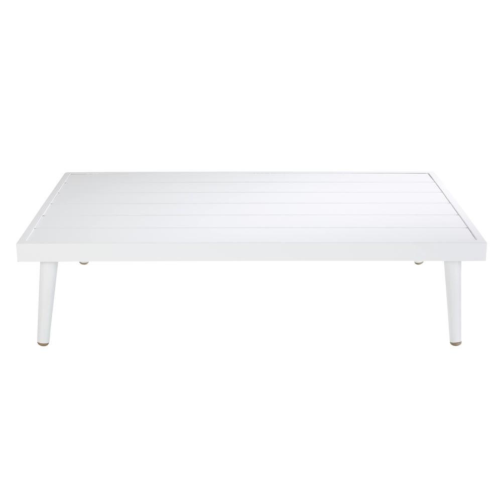 Table basse de jardin en aluminium blanc West Lake   Maisons du Monde