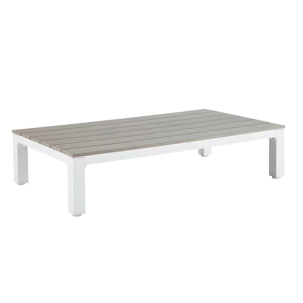 Table basse de jardin en aluminium et composite Escale | Maisons du ...