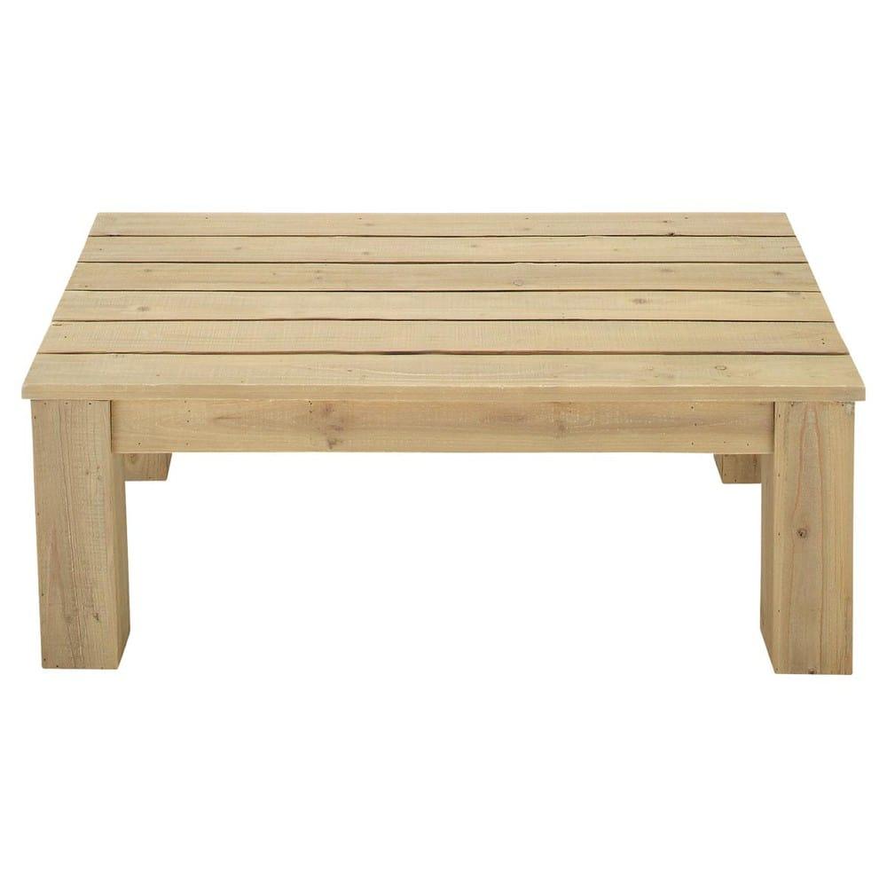 Table basse de jardin en bois L 100 cm Brehat | Maisons du Monde