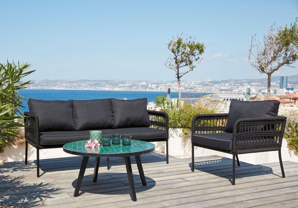 Table basse de jardin en mosaïque verte Zeliges | Maisons du Monde