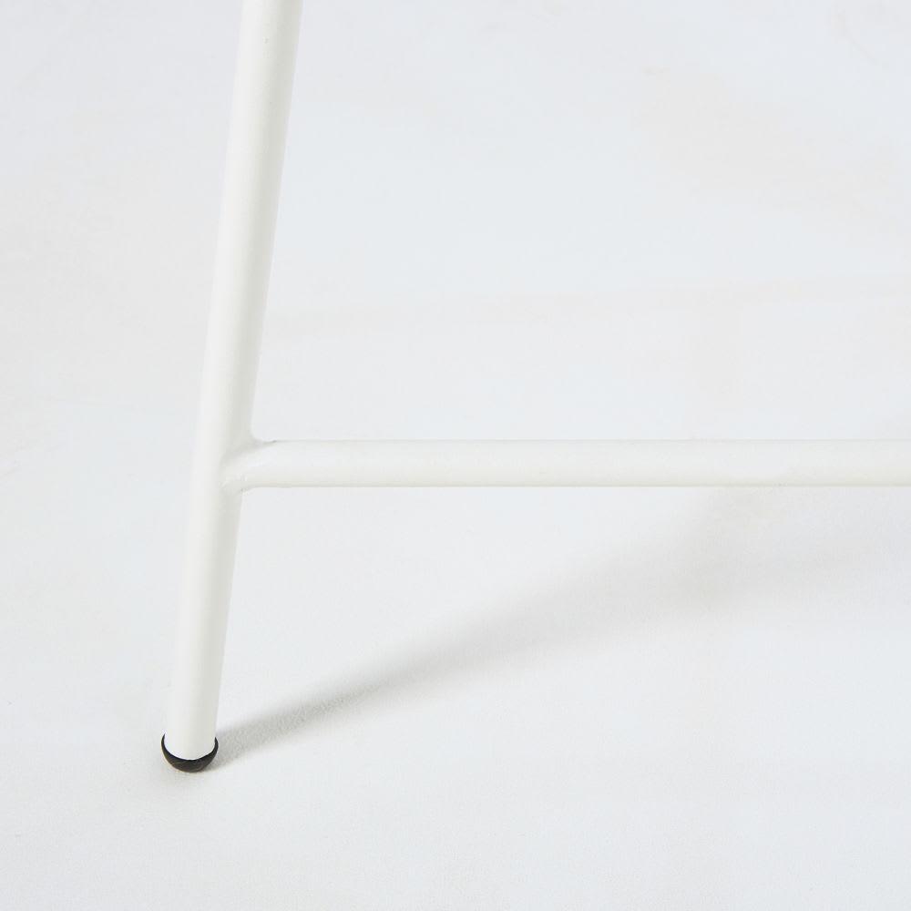 Table basse de jardin en résine blanche et verre Copacabana ...