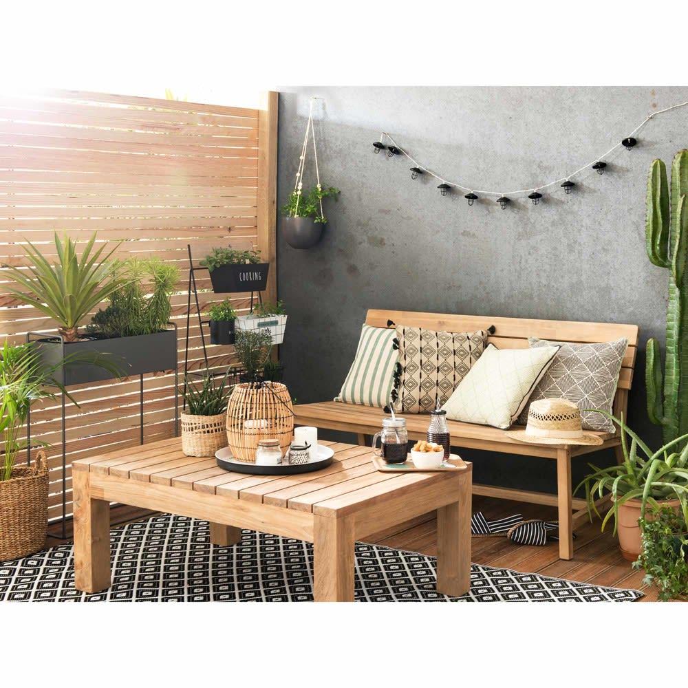 table basse de jardin en teck l 102 cadaques maisons du. Black Bedroom Furniture Sets. Home Design Ideas