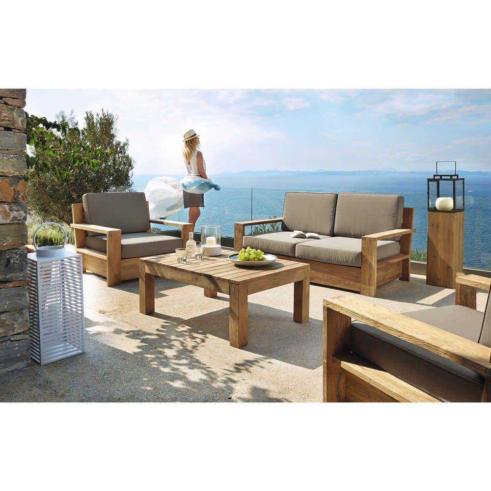 Table basse de jardin en teck L 102 Cadaques | Maisons du Monde