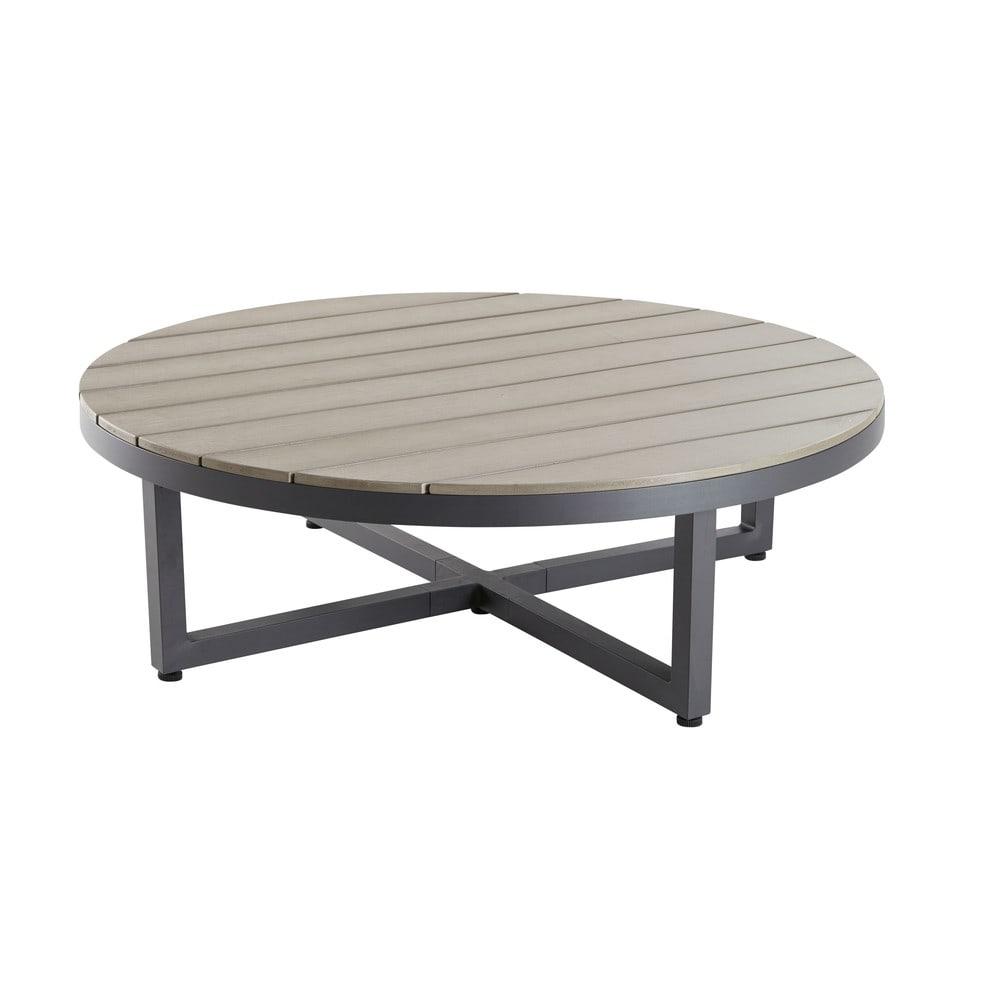 Table basse de jardin ronde en composite et aluminium Escale ...