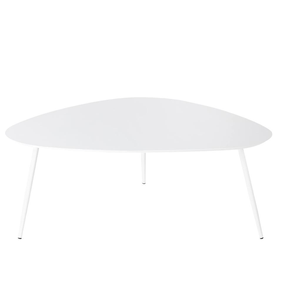 Table basse de jardin vintage en métal blanc Humpa | Maisons du Monde