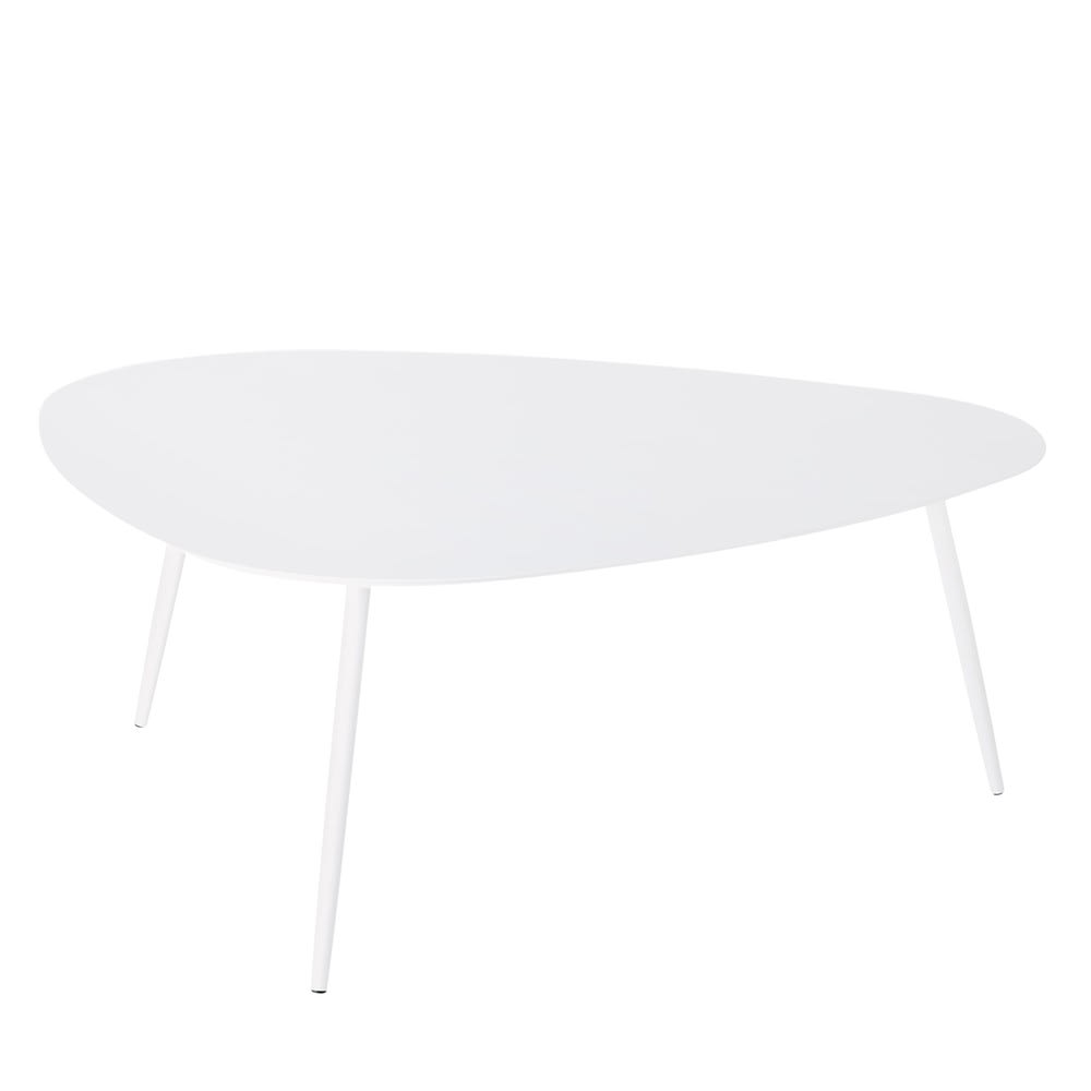 Table basse de jardin vintage en m tal blanc humpa maisons du monde - Table basse jardin metal ...