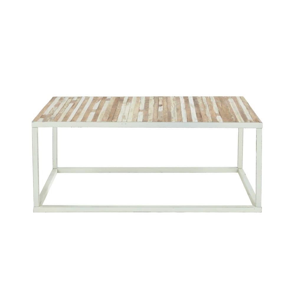 table basse en m tal blanc mistral maisons du monde. Black Bedroom Furniture Sets. Home Design Ideas