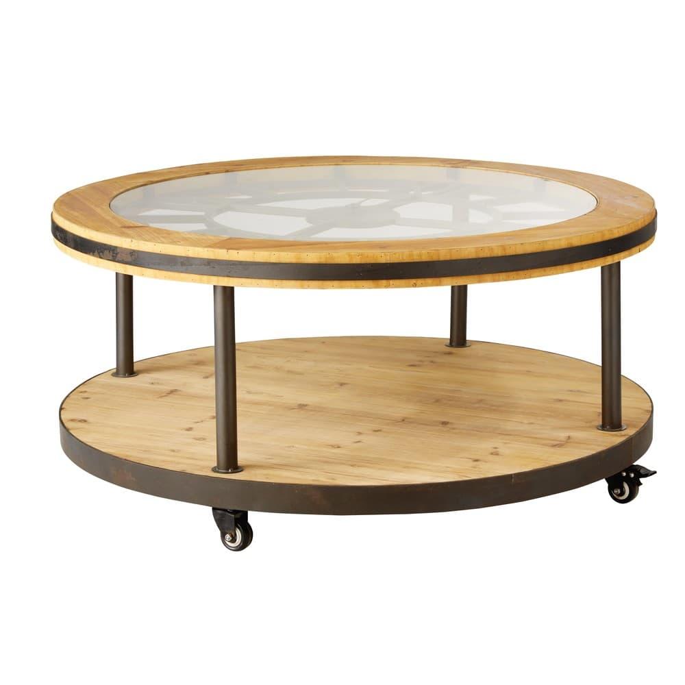 table basse ronde horloge burton maisons du monde. Black Bedroom Furniture Sets. Home Design Ideas