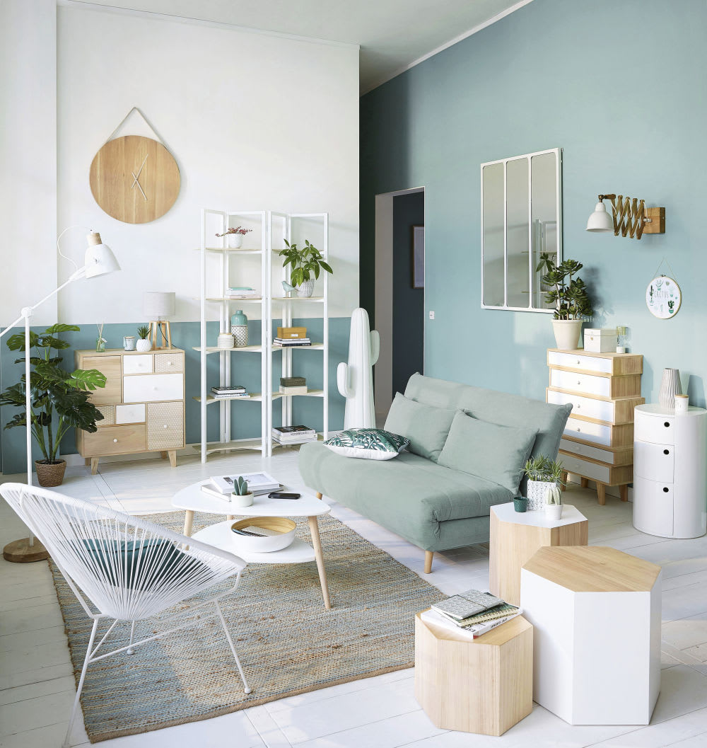 table basse style scandinave blanche spring maisons du monde. Black Bedroom Furniture Sets. Home Design Ideas
