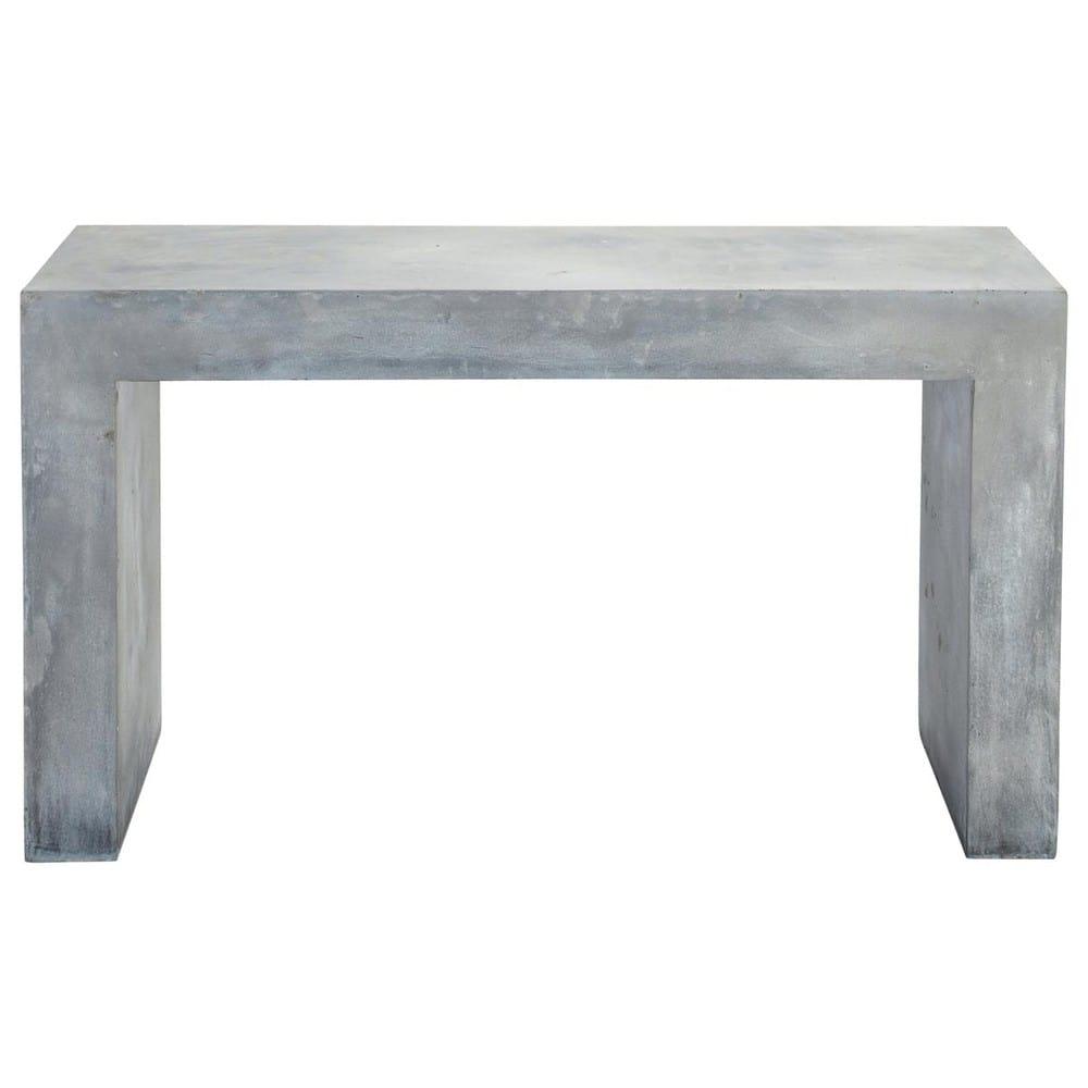 Elegant Table Console Effet Béton En Magnésie Grise L 135 Cm Mineral