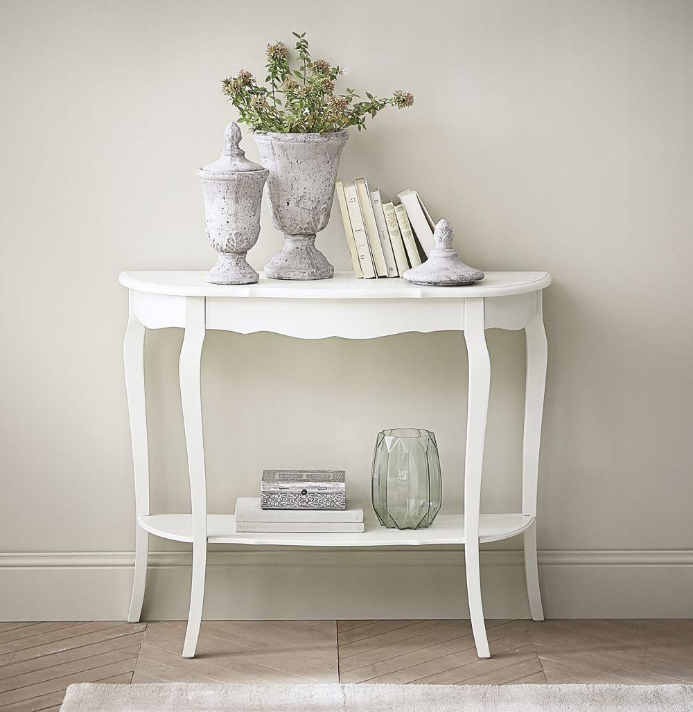 table console en bois blanche l 94 cm s raphine maisons du monde. Black Bedroom Furniture Sets. Home Design Ideas