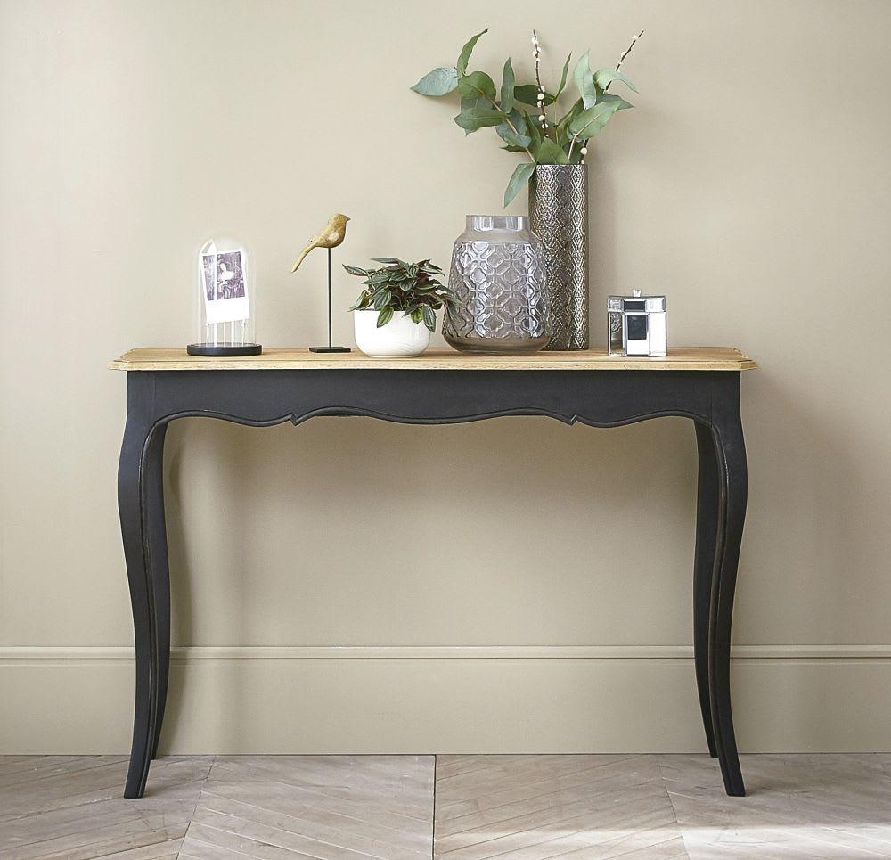 Table console en manguier massif noire Versailles | Maisons du Monde