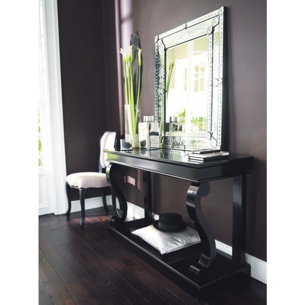table console en pin massif noire octavia maisons du monde. Black Bedroom Furniture Sets. Home Design Ideas