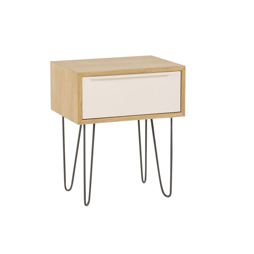 Table de chevet style scandinave 1 tiroir idylle maisons du monde - Table chevet maison du monde ...