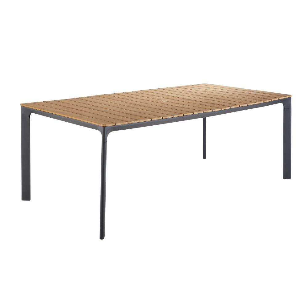 Table de jardin 6 8 personnes en composite et aluminium l200 fuji maisons du monde - Table de jardin aluminium 12 personnes ...