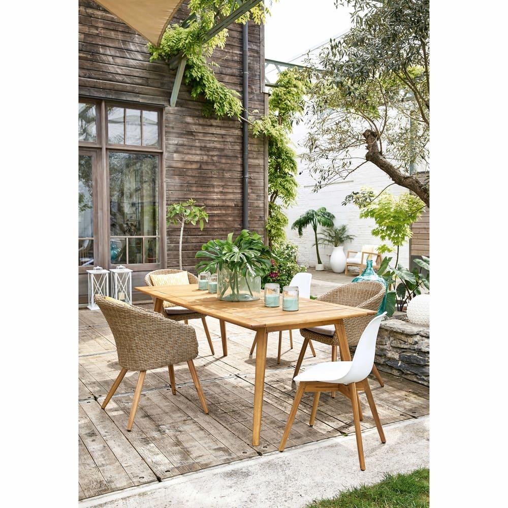 Table de jardin 8 personnes en acacia massif Frejus | Maisons du Monde