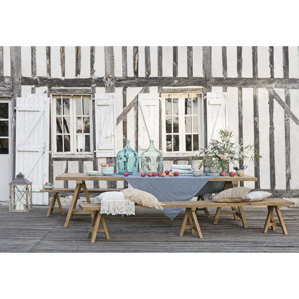 table de jardin 8 personnes en teck recycl l200 tecka maisons du monde. Black Bedroom Furniture Sets. Home Design Ideas