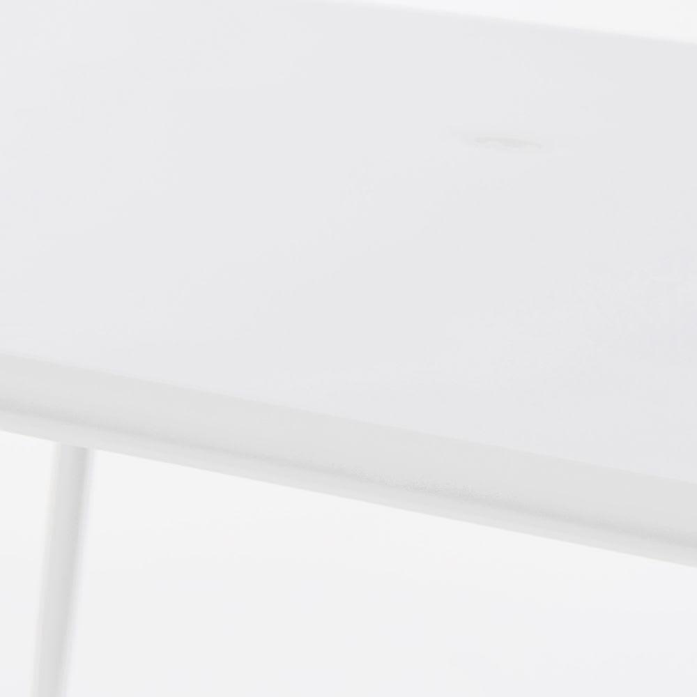 Table de jardin carrée en métal blanc 8 personnes L120 Zinav ...