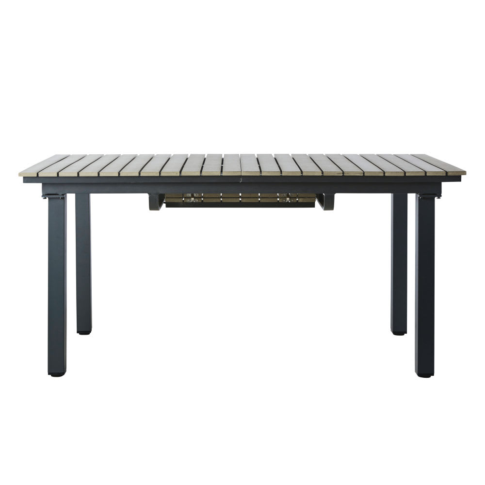 table de jardin en aluminium gris l 213 cm escale. Black Bedroom Furniture Sets. Home Design Ideas