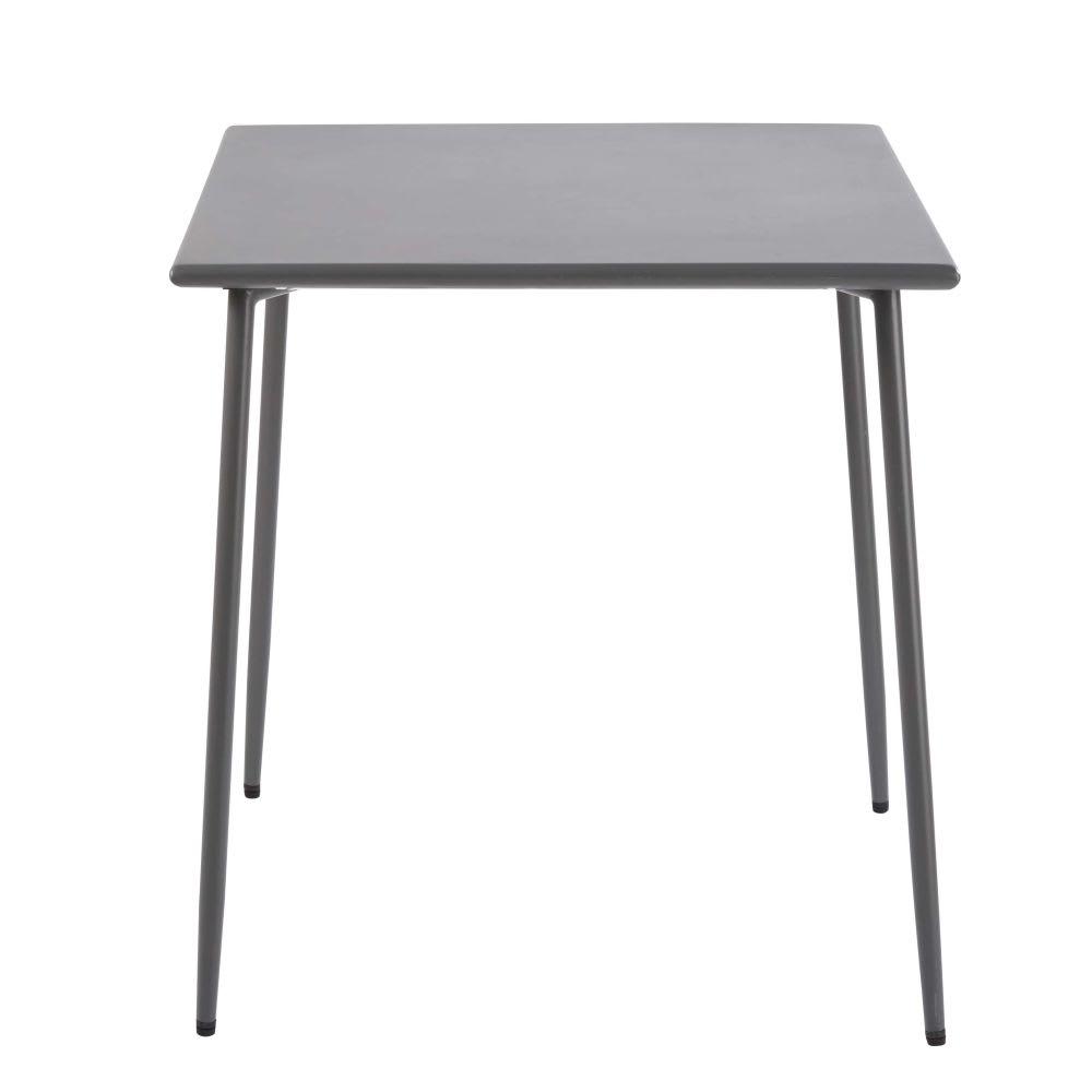 table de jardin en m tal gris anthracite 4 personnes l70 zinav maisons du monde. Black Bedroom Furniture Sets. Home Design Ideas
