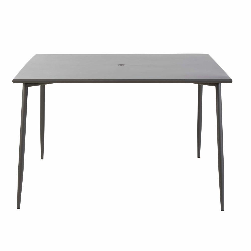 Table de jardin en métal gris anthracite 8 personnes L120 Zinav ...