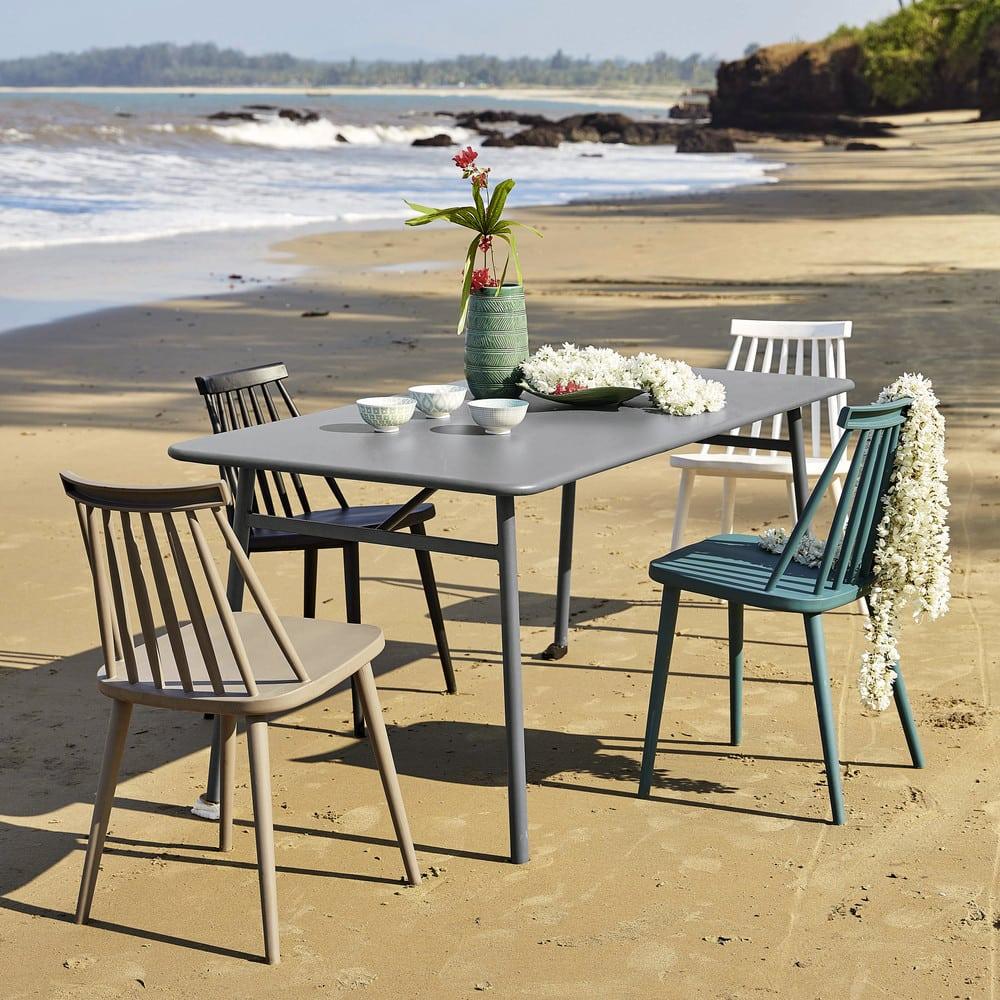 table de jardin en m tal l 160 cm harry 39 s maisons du monde. Black Bedroom Furniture Sets. Home Design Ideas