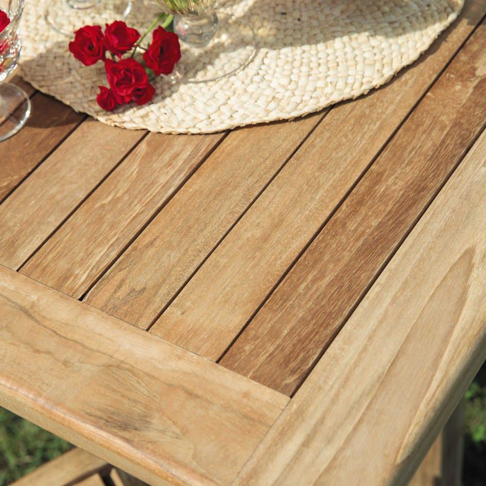 table de jardin en teck massif l150 ol ron maisons du monde. Black Bedroom Furniture Sets. Home Design Ideas