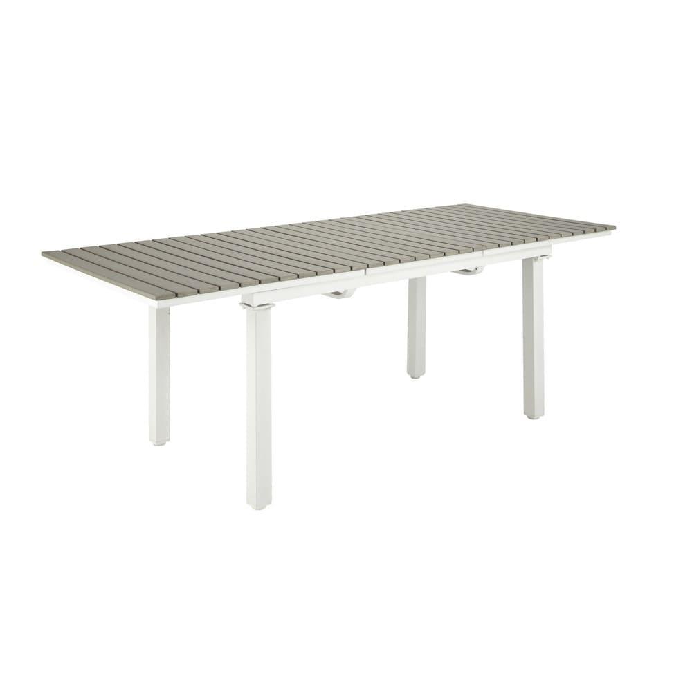 table de jardin extensible 6 10 personnes en aluminium et composite l157 escale maisons du monde. Black Bedroom Furniture Sets. Home Design Ideas