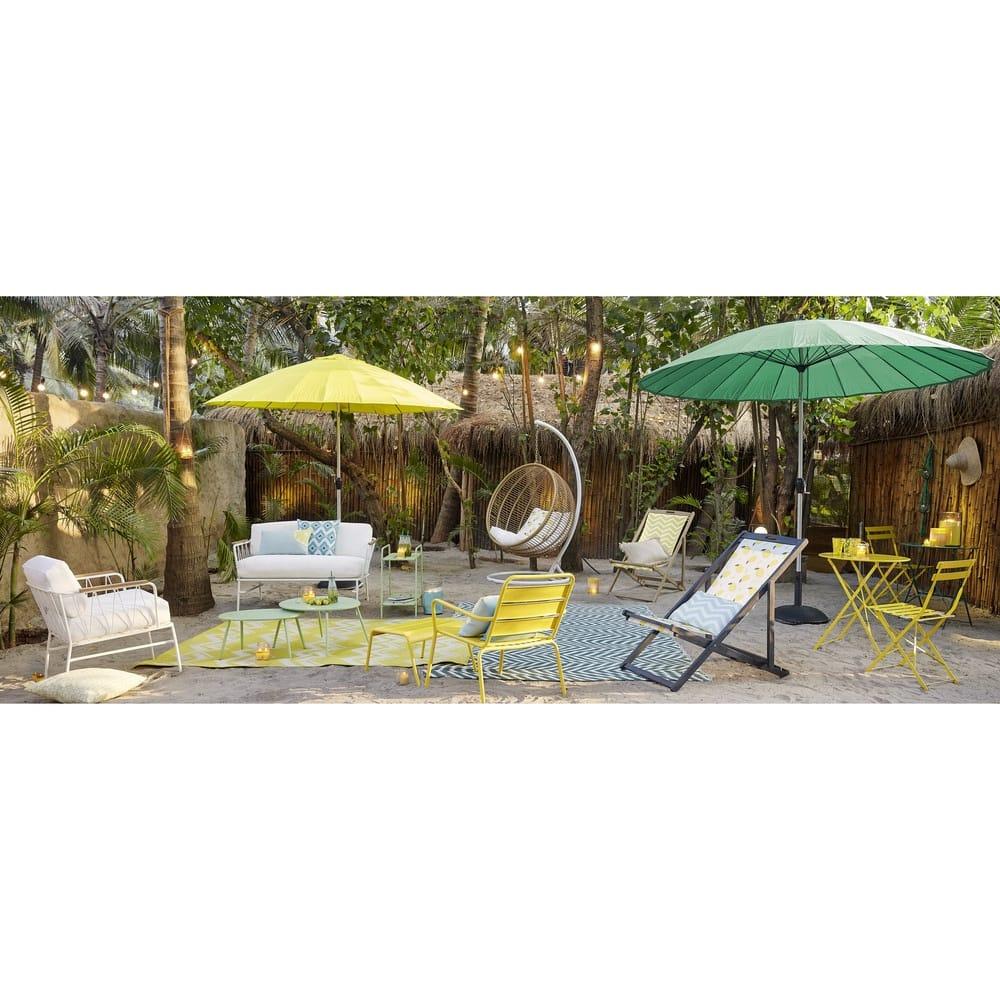 Table de jardin pliante en métal jaune D58 Guinguette   Maisons du Monde
