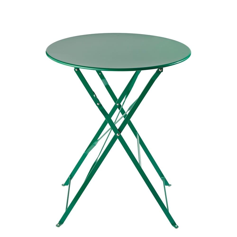 table de jardin pliante en m tal vert d58 guinguette maisons du monde. Black Bedroom Furniture Sets. Home Design Ideas