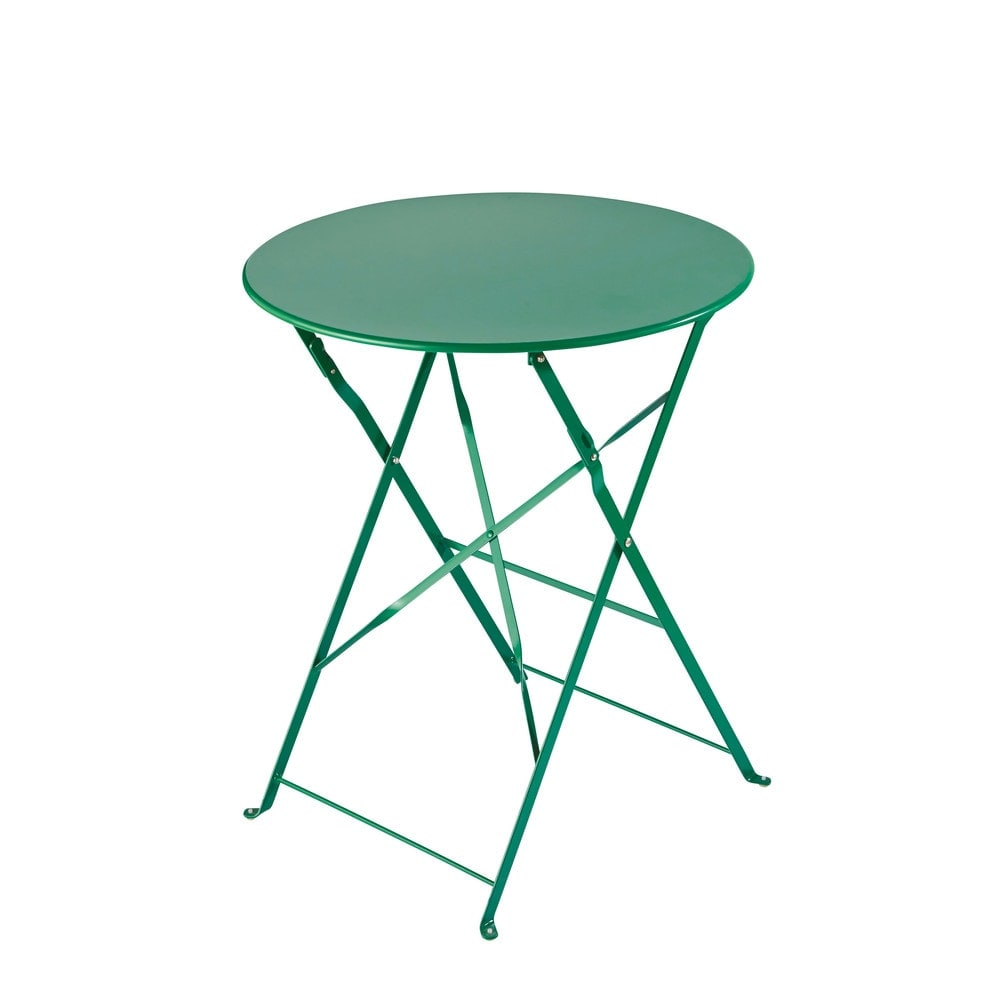 table de jardin pliante en m tal vert d58 guinguette. Black Bedroom Furniture Sets. Home Design Ideas