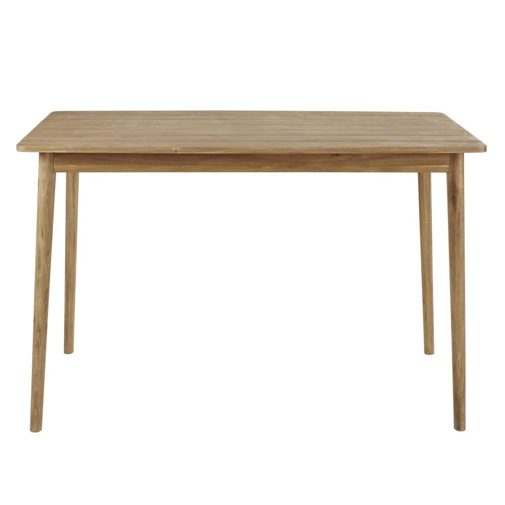 Table haute de jardin en acacia massif 6 personnes L150 Napari ...
