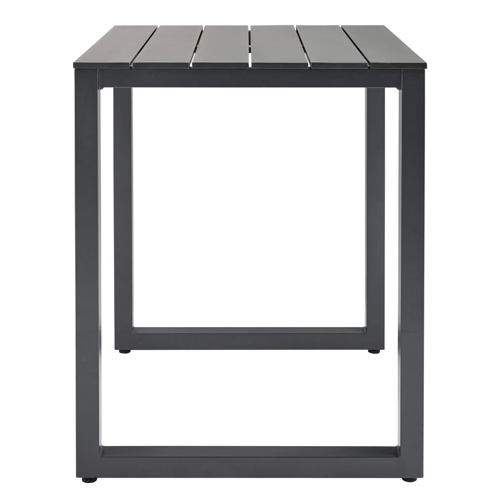 Table haute de jardin en aluminium gris anthracite 2/4 personnes L75 ...