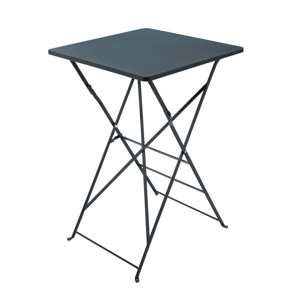 table haute de jardin professionnelle en m tal gris l70. Black Bedroom Furniture Sets. Home Design Ideas