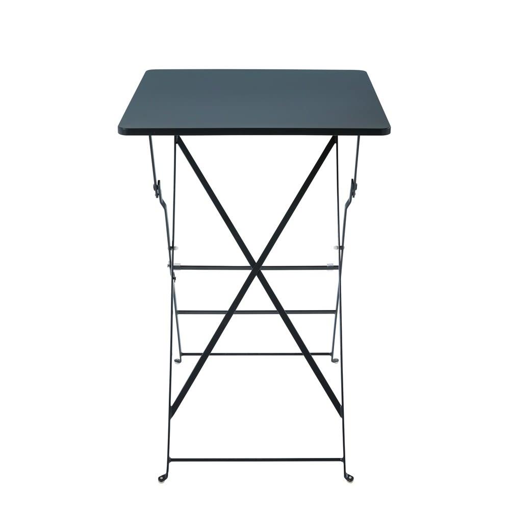 Table haute de jardin professionnelle en métal gris L70 Guinguette ...