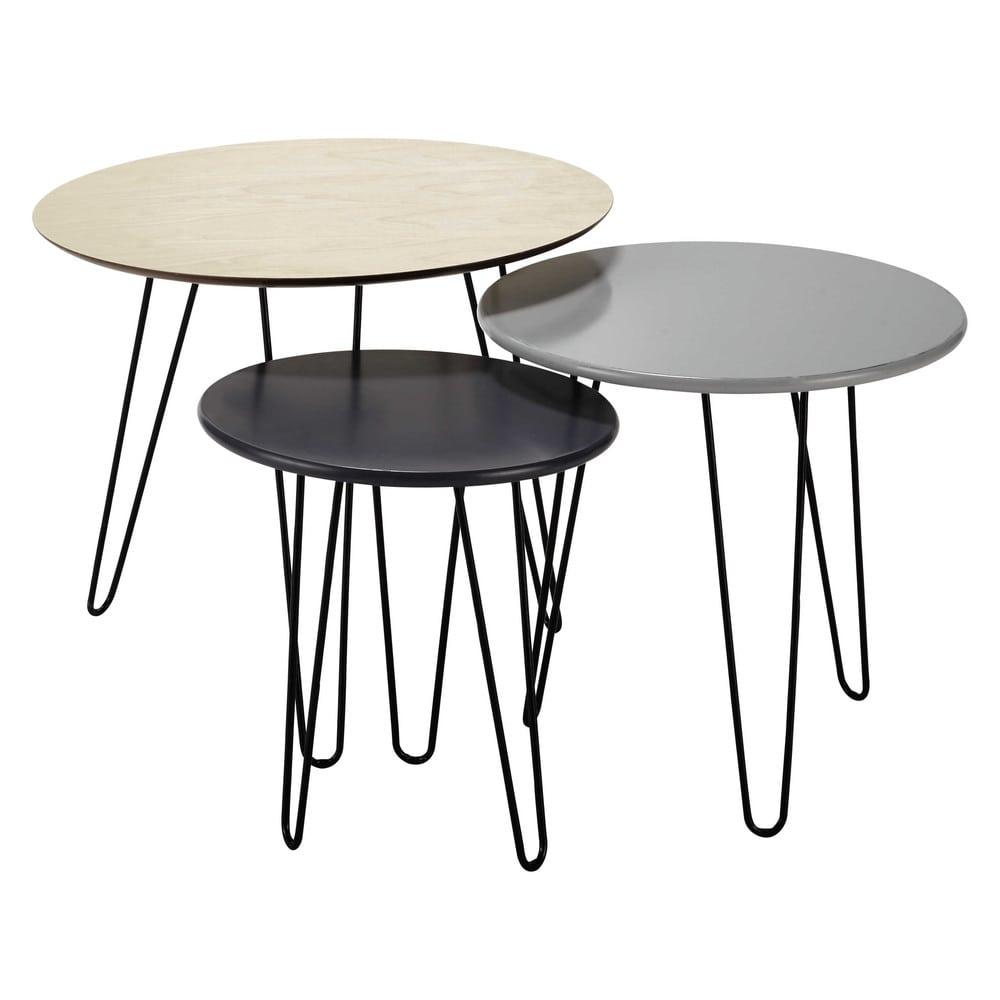 Tables gigognes graphik maisons du monde - Petite table maison du monde ...