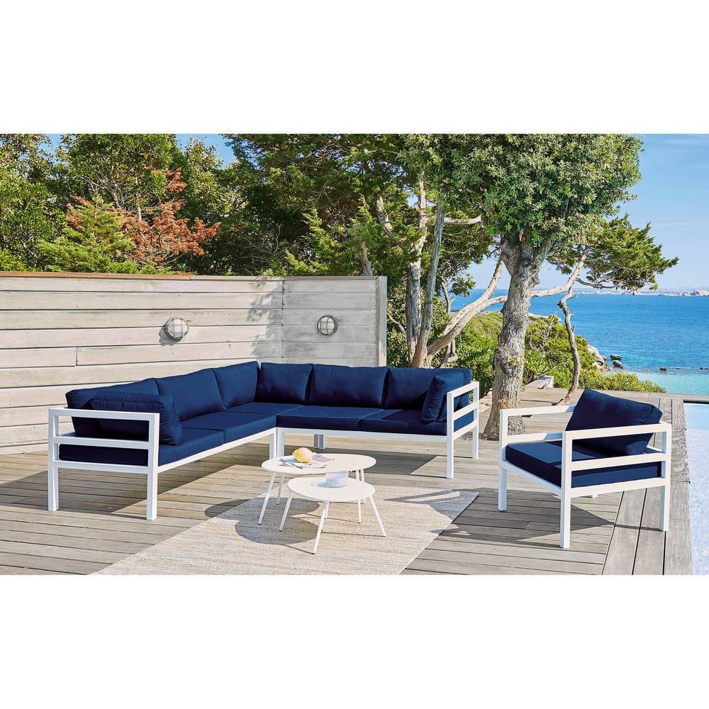 tables gigognes de jardin en m tal blanc lumpa maisons. Black Bedroom Furniture Sets. Home Design Ideas