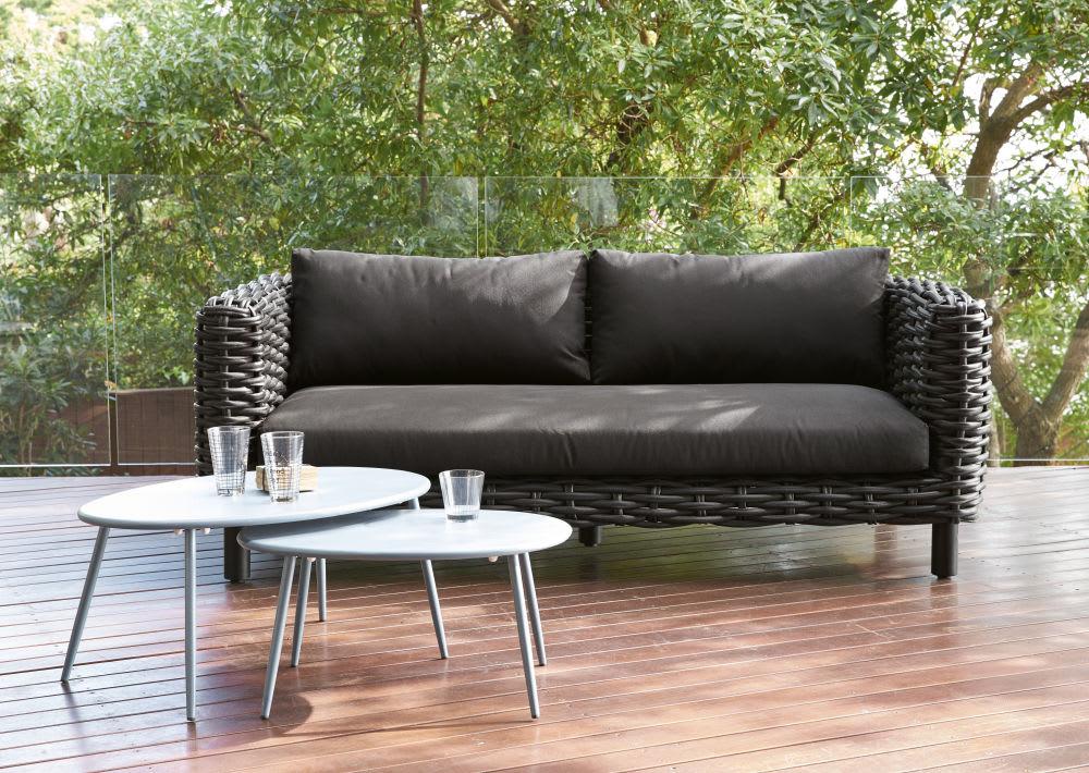 tables gigognes de jardin en m tal gris lumpa maisons du. Black Bedroom Furniture Sets. Home Design Ideas