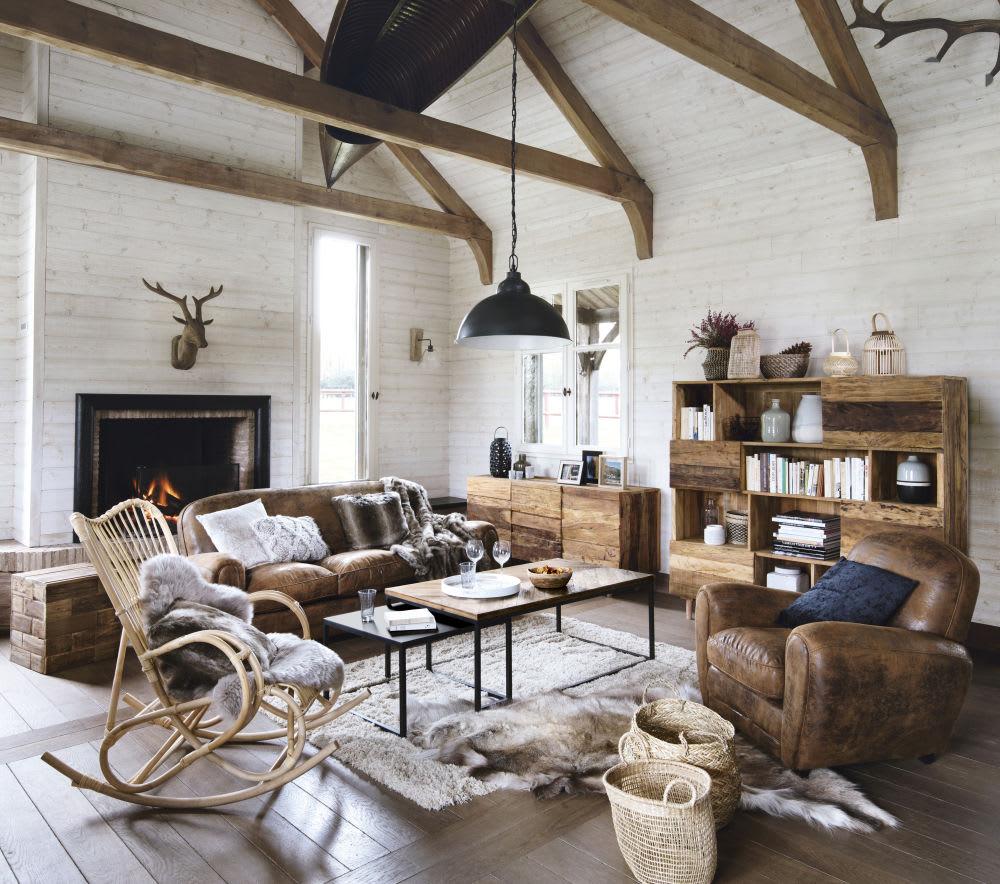 tables gigognes en bois recycl et m tal chevron maisons. Black Bedroom Furniture Sets. Home Design Ideas