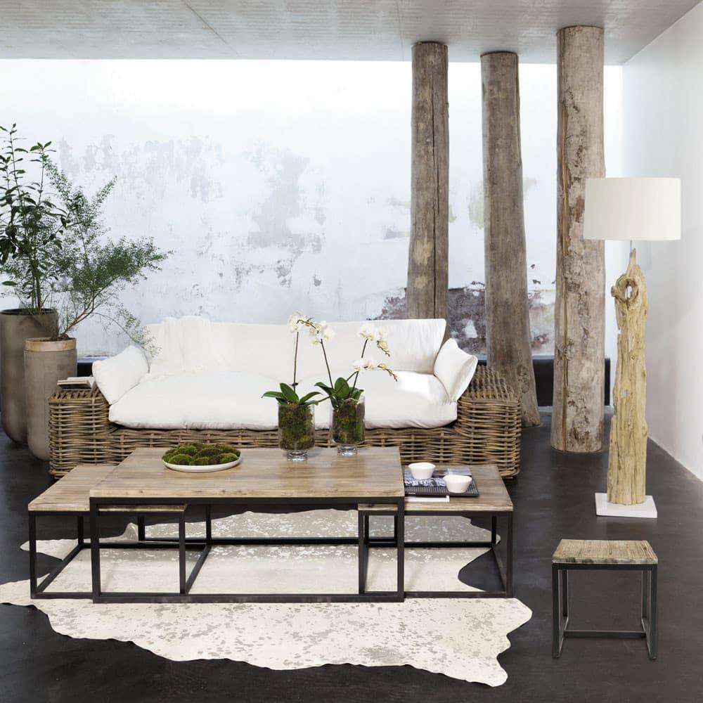 tables gigognes indus en sapin massif et m tal long island maisons du monde. Black Bedroom Furniture Sets. Home Design Ideas