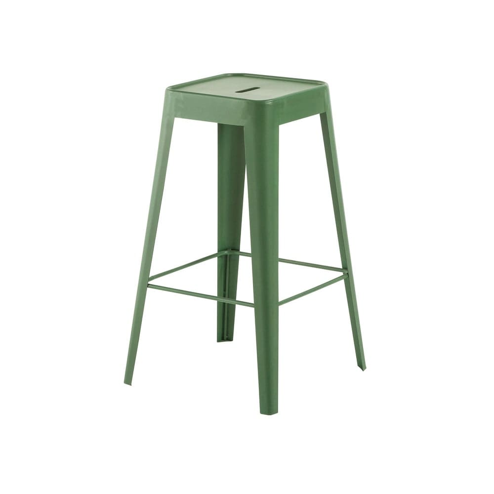 tabouret de bar indus en m tal vert tom maisons du monde. Black Bedroom Furniture Sets. Home Design Ideas