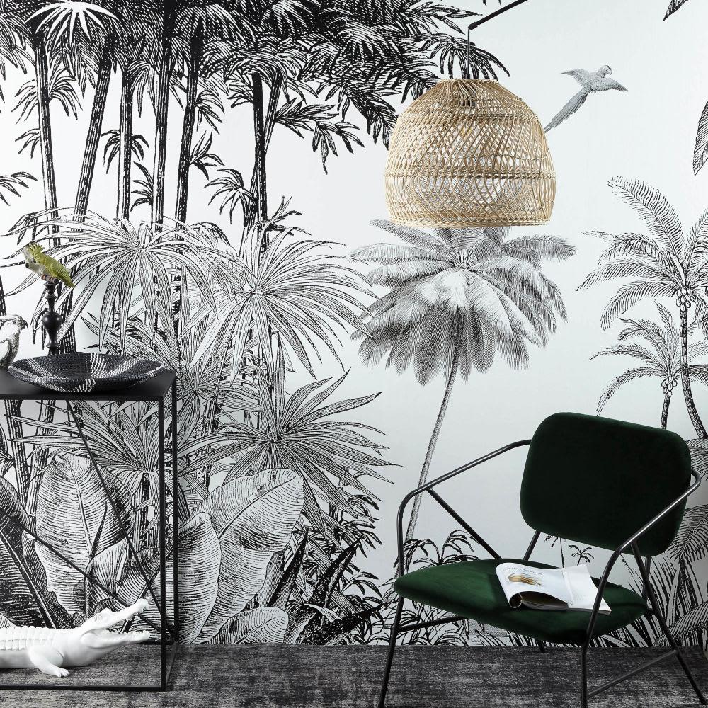tapete dschungel motiv schwarz und wei 300x350 paradise. Black Bedroom Furniture Sets. Home Design Ideas
