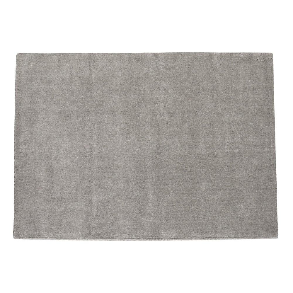 tapis poils courts en laine gris 200 x 200 cm soft maisons du monde. Black Bedroom Furniture Sets. Home Design Ideas