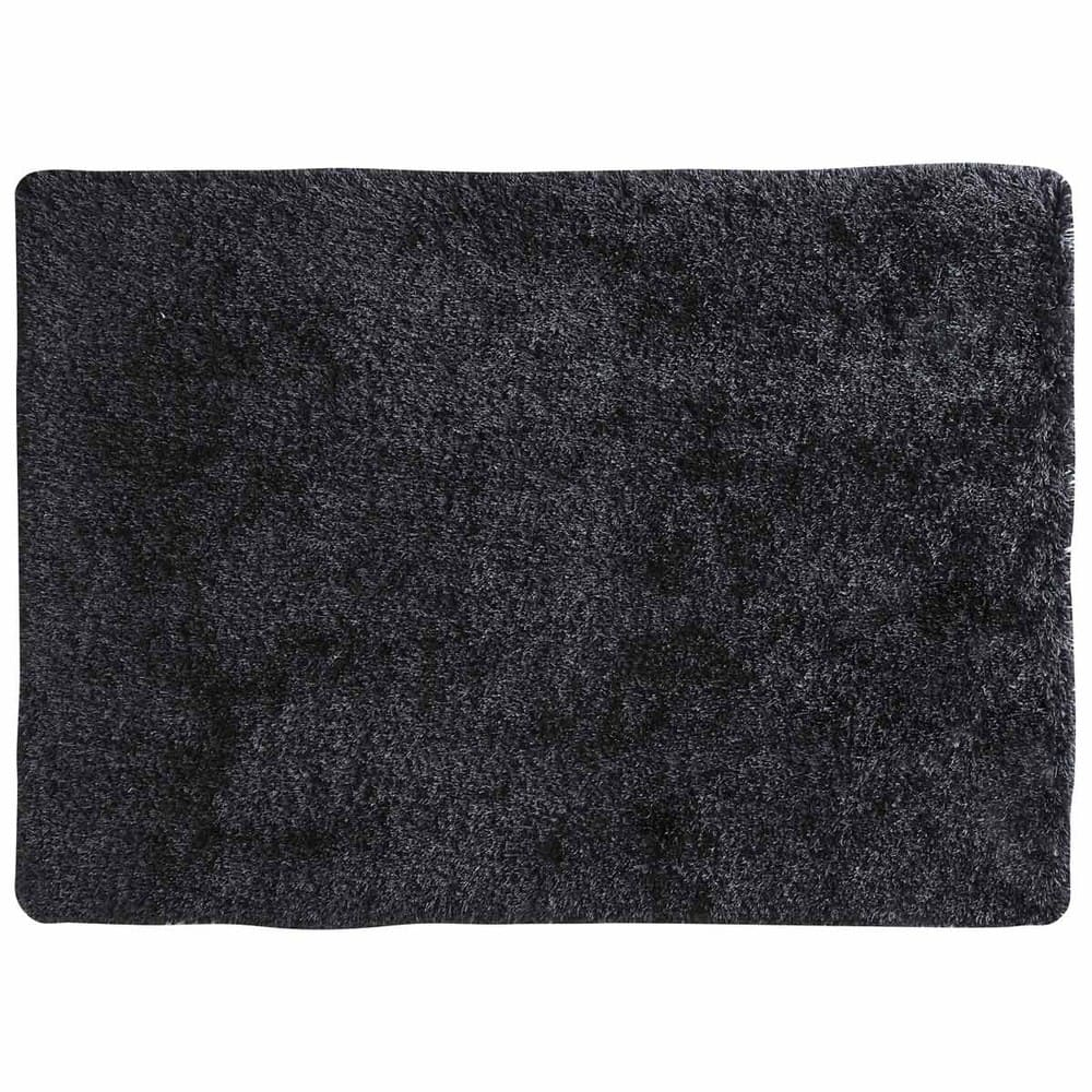 tapis poils longs gris anthracite 140 x 200 cm polaire maisons du monde. Black Bedroom Furniture Sets. Home Design Ideas