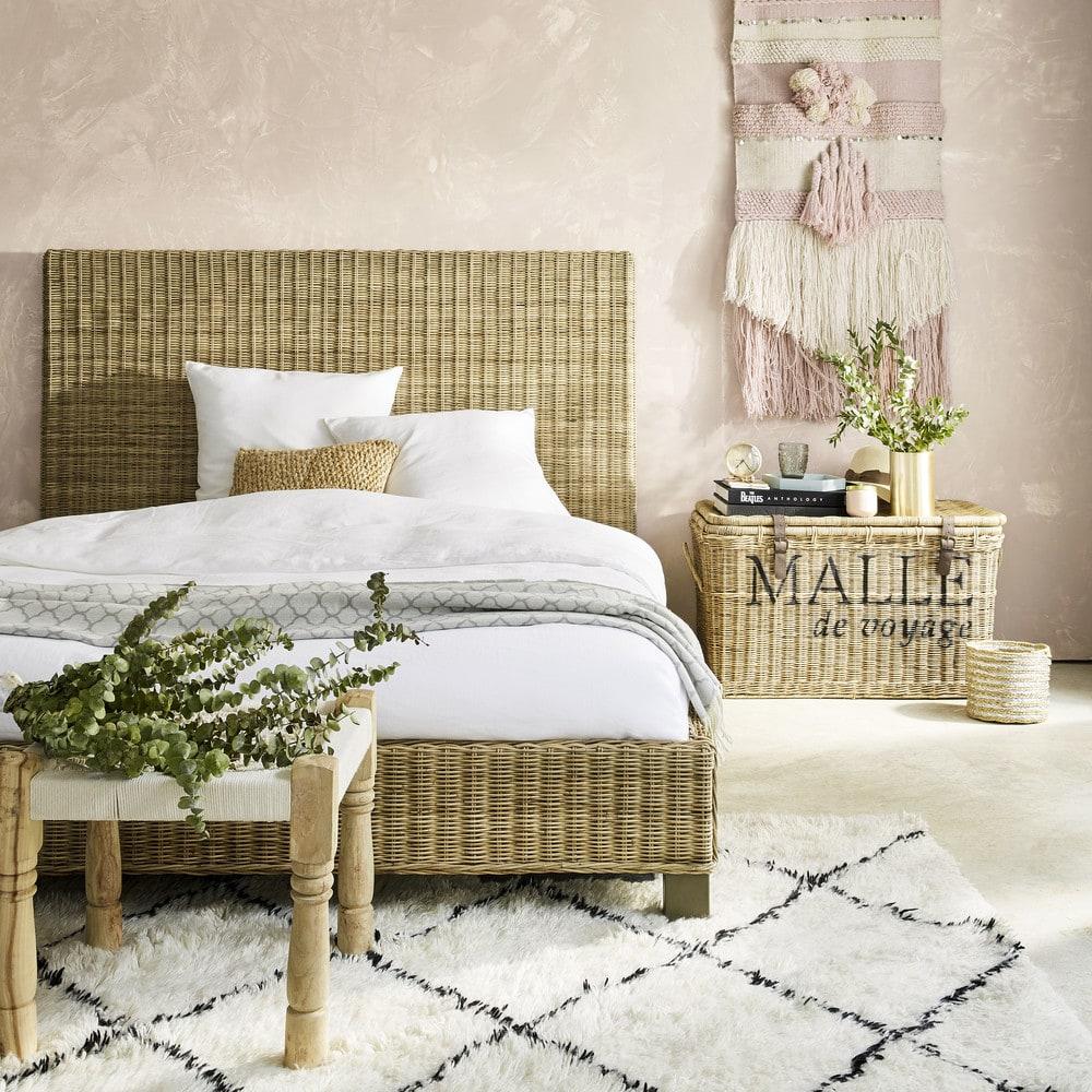 tapis berb re en laine et coton 140x200 isma maisons du. Black Bedroom Furniture Sets. Home Design Ideas