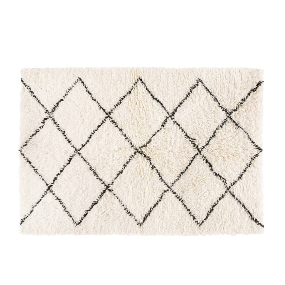 tapis berb re en laine et coton 160x230 isma maisons du. Black Bedroom Furniture Sets. Home Design Ideas