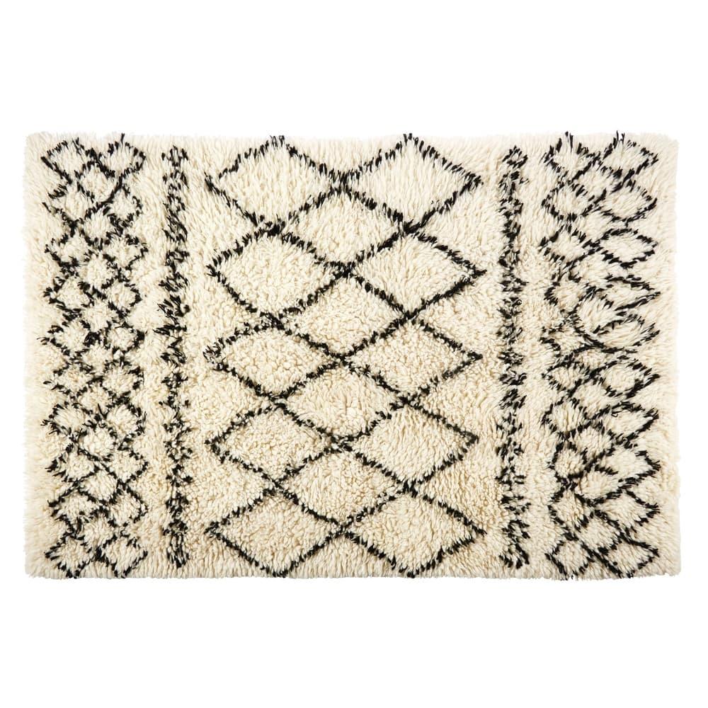 tapis berb re en laine et coton 160x230 mounia maisons. Black Bedroom Furniture Sets. Home Design Ideas