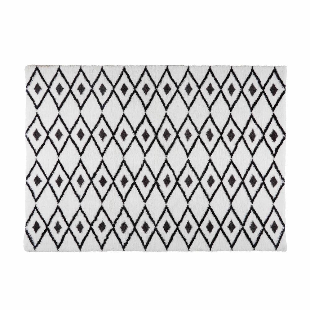 jyam - tapis berbère noir et blanc 140x200