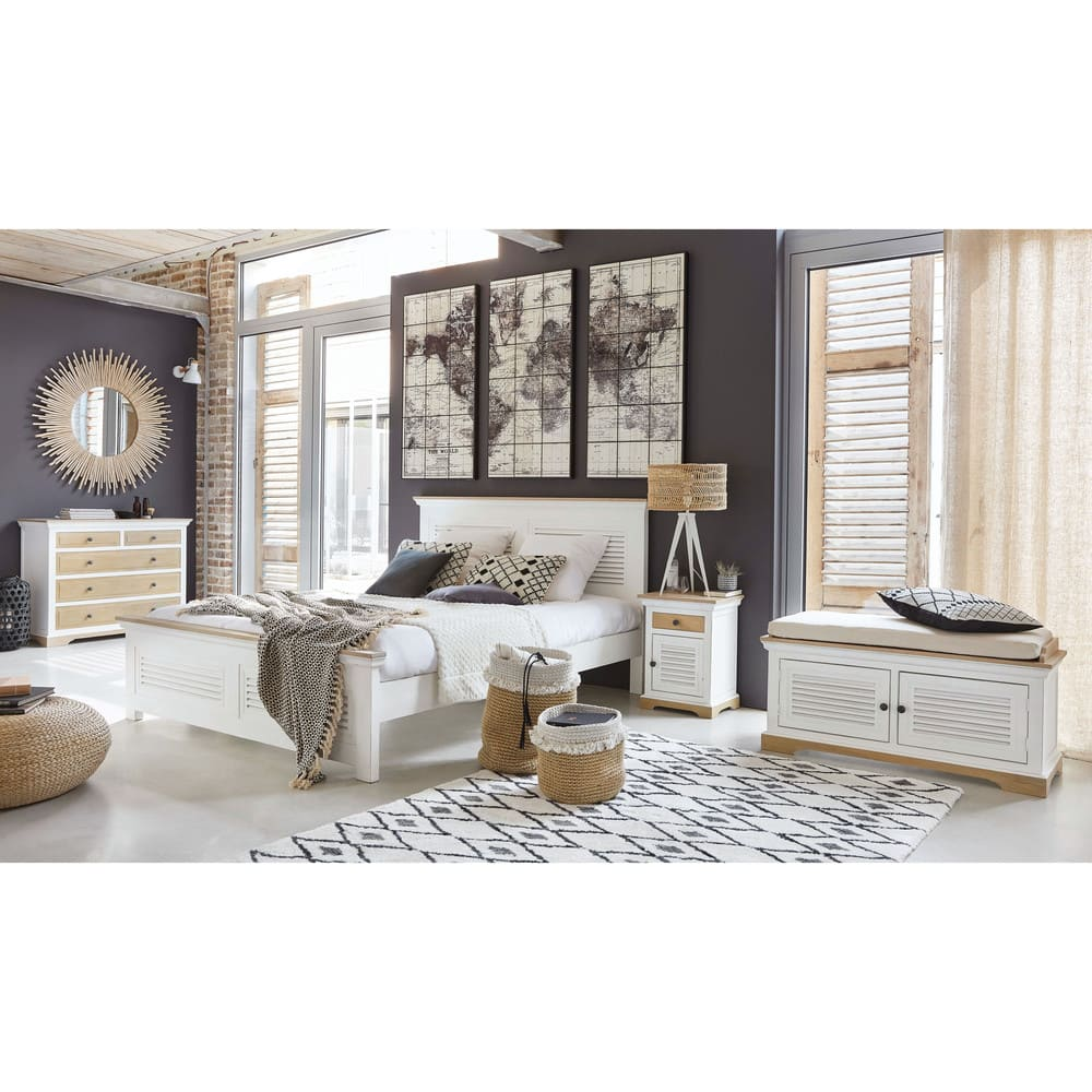 tapis berb re noir et blanc 140x200 jyam maisons du monde. Black Bedroom Furniture Sets. Home Design Ideas