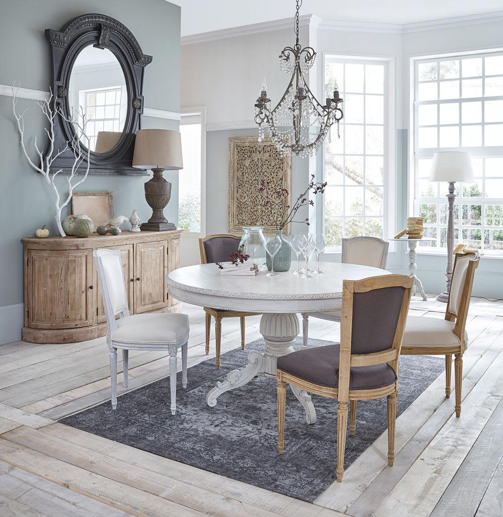 tapis bleu et gris motifs 140x200 madeline maisons du. Black Bedroom Furniture Sets. Home Design Ideas